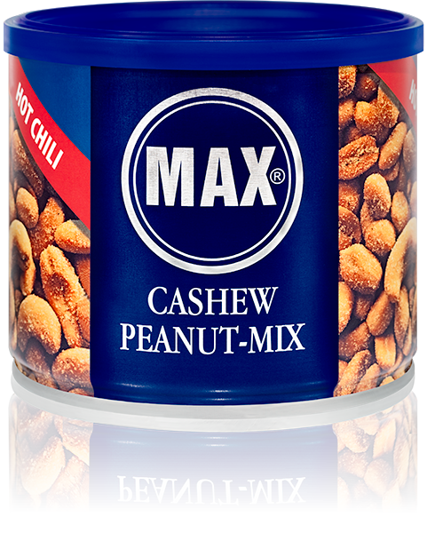 MAX CASHEW PEANUT-MIX Hot Chili (Karton)