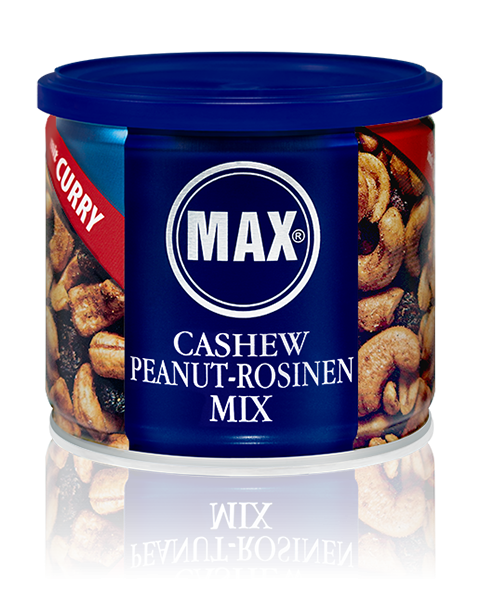 MAX CASHEW PEANUT-ROSINEN MIX - Curry (Karton)
